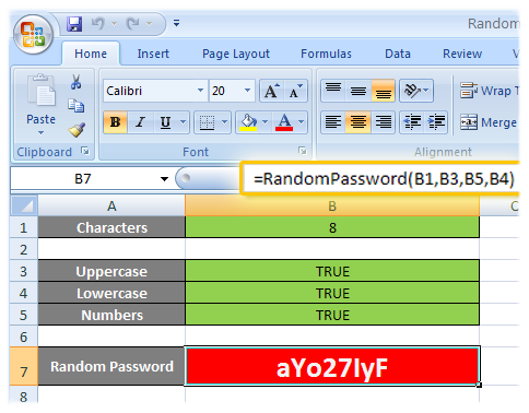 random user and password generator