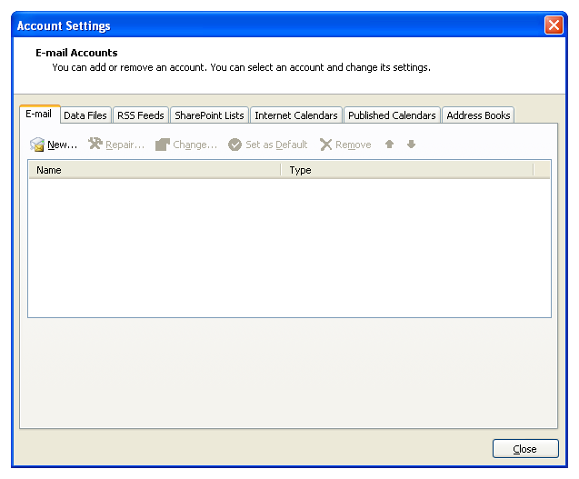 Configure Hotmail, Live and MSN e-mail accounts to use them