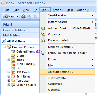 Outlook_2007_Configure_Menu