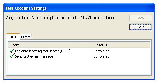 how to configure outlook 2003 for webmail